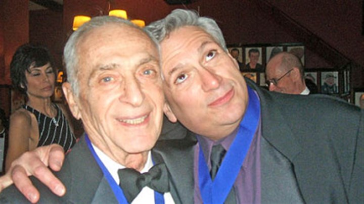 Roy Somlyo and Harvey Fierstein Broadway veteran Roy Somlyo, left, Founders Award winner, and Hall inductee Harvey Fierstein at the Theater Hall of Fame.