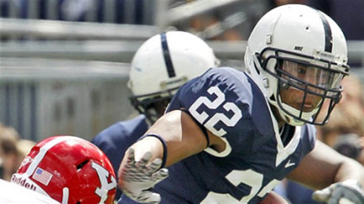 Royster must turn Tide at 'Bama Penn State runniung back Evan Royster (22) fends off Youngstown State's Ross Brandian during the first quarter in State College, Pa., Saturday aftrnoon.