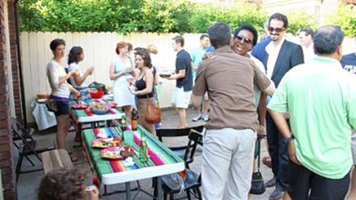 rust belt In Pittsburgh, a backyard barbeque was organized for filmmaker Jack Storey and his crew by Abe Taleb of ReWork, an employment company in Larimer.