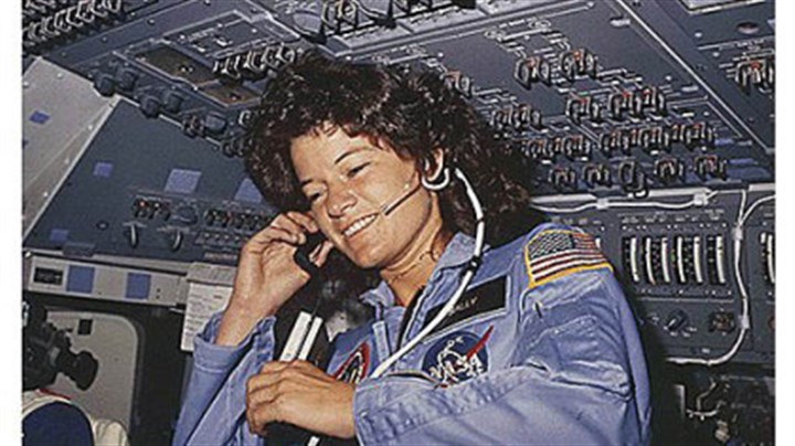 Sally Ride in 1983 Sally Ride in 1983 as America's first female astronaut