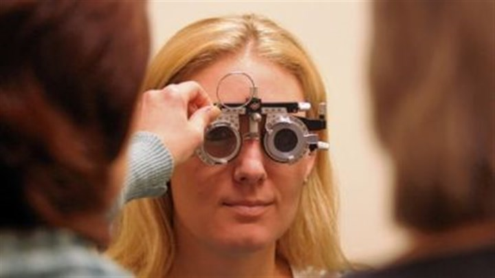 Samantha Elsey Samantha Elsey undergoes a low-vision evaluation at Blind & Vision Rehabilitation Services. She has retinitis pigmentosa, in which the retina is damaged, as well as hearing loss, both due to a condition known as Usher syndrome.