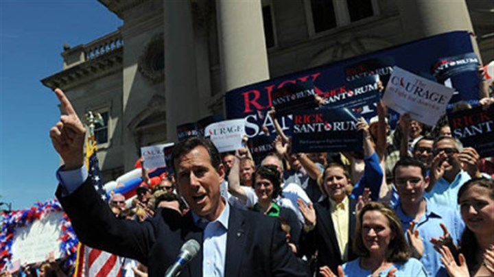 Santorum announces candidacy Former U.S. Sen. Rick Santorum announces his candidacy for president on the steps of the Somerset County Courthouse.