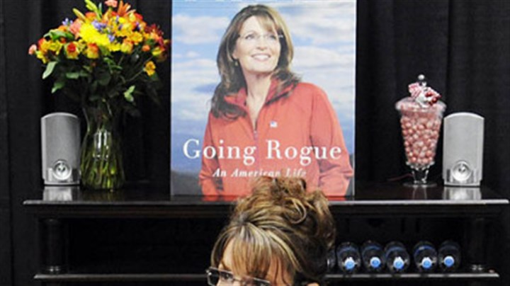 Sarah Palin Former Vice Presidential nominee Sarah Palin signs copies of her book yesterday at Sam's Club in South Strabane.