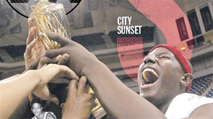 Schenley greats Maurice Lucas, bottom left, starred for Schenley in the early 1970s. DeJuan Blair, above, celebrates after the 2005 City League championship.