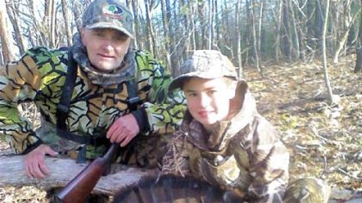Sean Farrell and Terry Farrell Sean Farrell, 8, of Ross, was accompanied by his grandfather, Terry Farrell, left, when he shot his first turkey at 7:47 a.m. April 30 at 22 yards with a 20 gauge.
