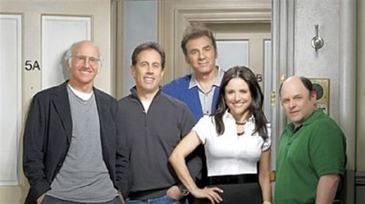 "'Seinfeld' cast reunites on HBO show ""Seinfeld"" creator Larry David, left, is getting Jerry Seinfeld, Michael Richards, Julia Louis-Dreyfus and Jason Alexander to join him for five episodes of his ""Curb Your Enthusiasm"" show."