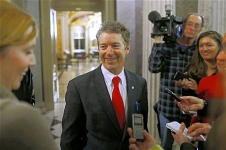 Sen. Rand Paul Sen. Rand Paul, R-Ky., leaves the floor of the Senate on Thursday after his filibuster of John Brennan's nomination to be CIA director.