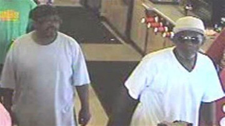 sheetz surveillance This photo from a surveillance camera shows two men that Pennsylvania state police say stole $144 from a Sheetz cashier.