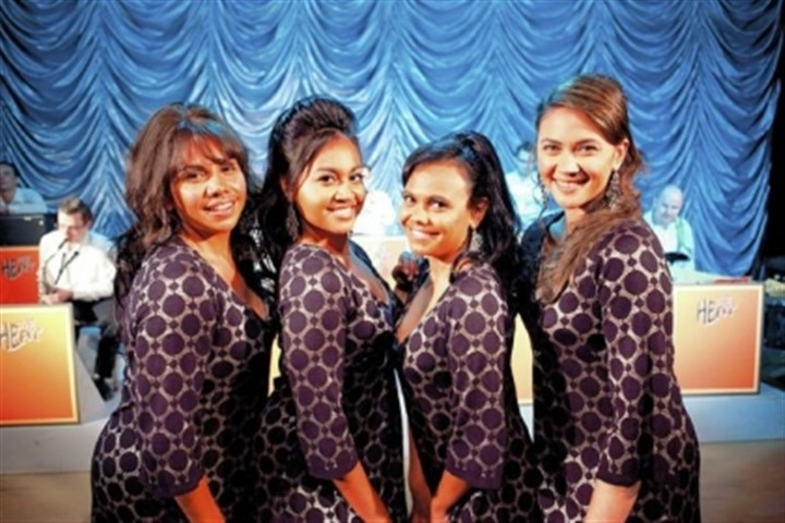"Singers of ""The Sapphires"" Starring in ""The Sapphires"" are, from left, Deborah Mailman, Jessica Mauboy, Miranda Tapsell and Shari Sebbens."