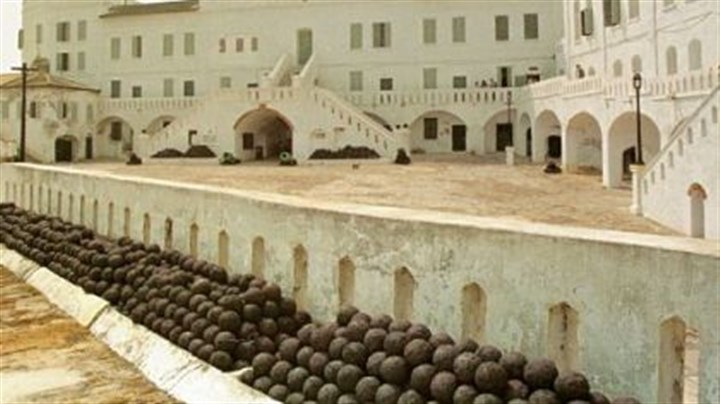 Slave fortress A view of a slave fortress in Cape Coast, Ghana in 1996. Hundreds of thousands of Africans were forced through its dungeons and loaded onto slave ships anchored along the Atlantic coastline. Barack Obama and his family will follow in the footsteps of countless African-Americans who have tried to reconnect with their past on these shores.
