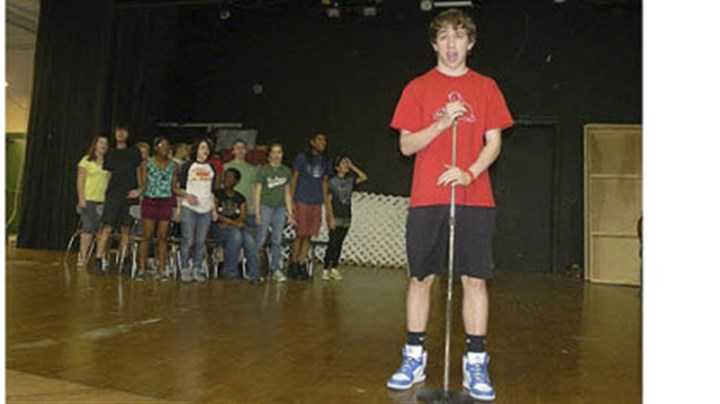"Spelling Bee A month before opening, the Allderdice cast was deep in the musical mysteries of ""Spelling Bee."""