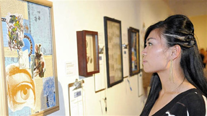 Sprout Fund's Hothouse benefit Yuko Asano looks at the art.