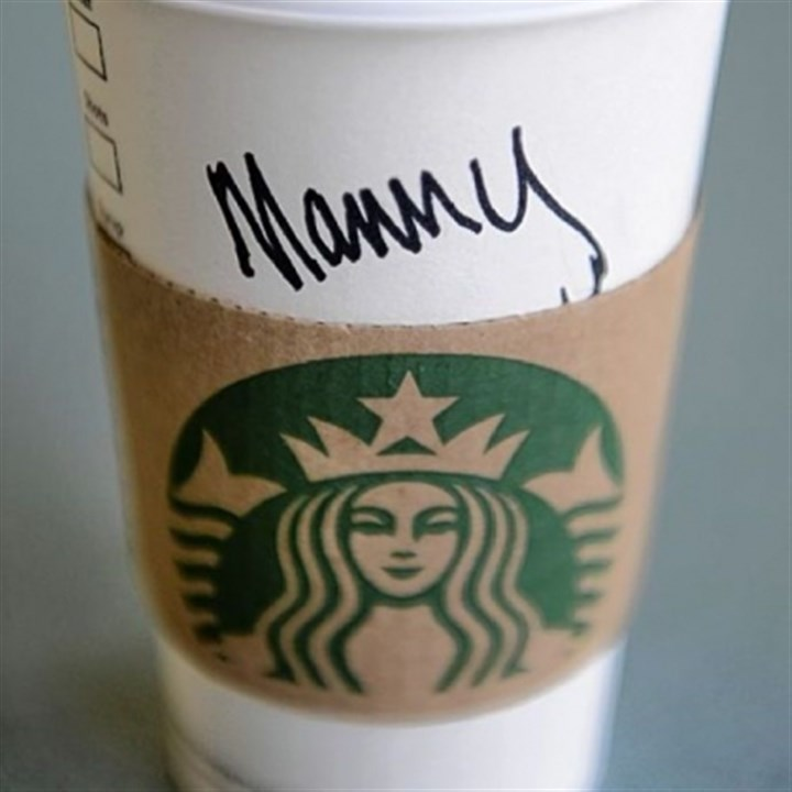 "Starbucks name Annie ordered a coffee. Came back as ""Manny."""