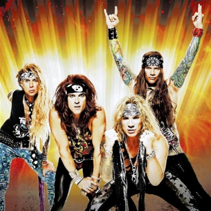 Steel Panther Steel Panther -- Lexxi Foxx, left, Satchel, Michael Starr and Stix Zadinia.