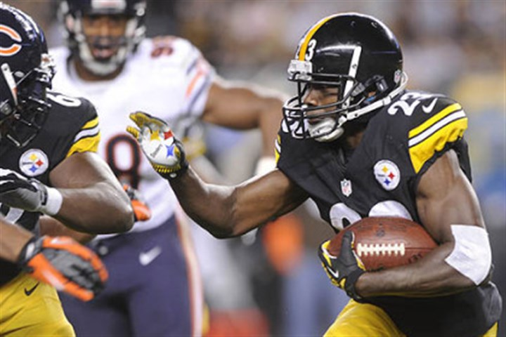 steele game jobes Felix Jones rushes against the Chicago Bears during the first half Sunday at Heinz Field.