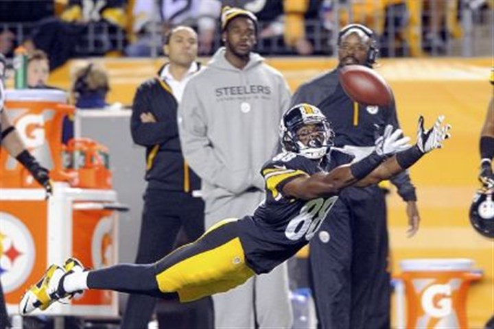 steele game sanders miss Emmanuel Sanders can't quite reach a pass during the first half of the game against the Bears Sunday night at Heinz Field.