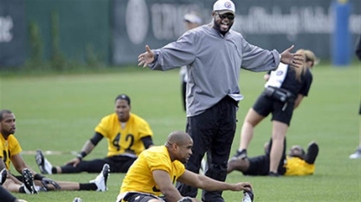 Steelers An animated Mike Tomlin seems ready to get to work on the first day of organized team activity Tuesday morning.