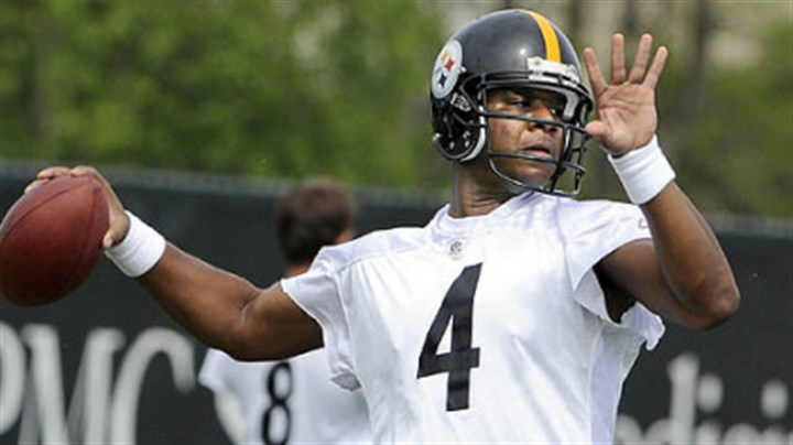 Steelers quarterback Byron Leftwich Steelers quarterback Byron Leftwich, above, took snaps with the first team for all five minicamp practices.
