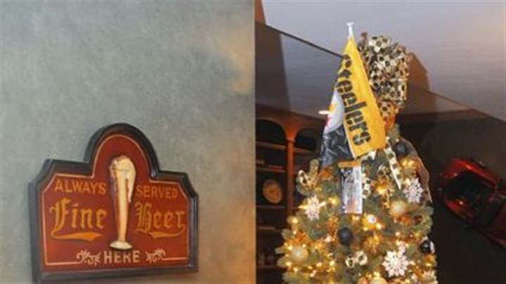 Steelers-themed tree The Steelers-themed Christmas tree at Rose Romboski's house.