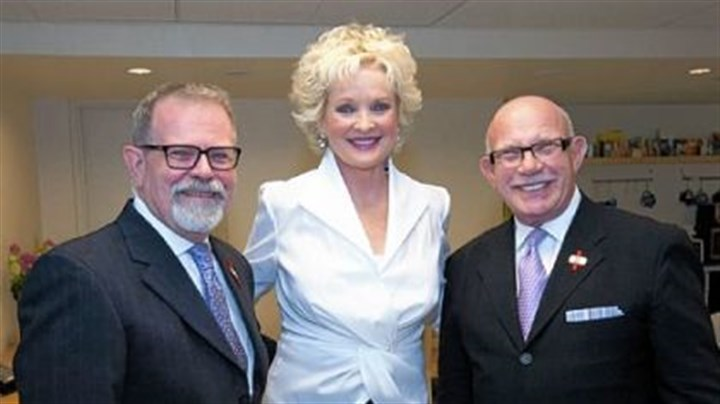 Steve Hough, Christine Ebersole and Nachum Golan Steve Hough, Christine Ebersole and Nachum Golan.