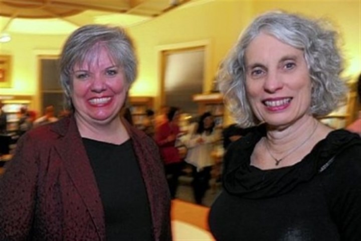 Sue Banks and Mary Frances Cooper Deputy Director Sue Banks, left, and Mary Frances Cooper, president of Carnegie Library.