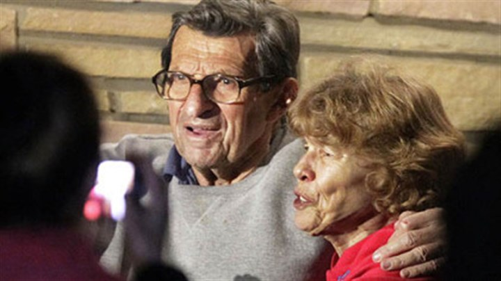 Sue Paterno Sue Paterno will receive $10.1 million of her husband's $13.4 million pension by the end of May.