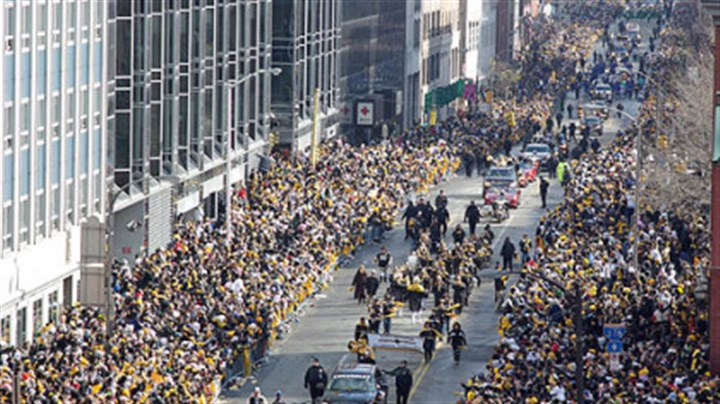 Super Bowl parade The Steelers Super Bowl parade progresses down the Boulevard of the Allies, Downtown.