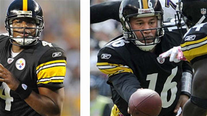 Tale of two QBs Byron Leftwich: No. 2 of the future. Charlie Batch: No. 2 of the present.