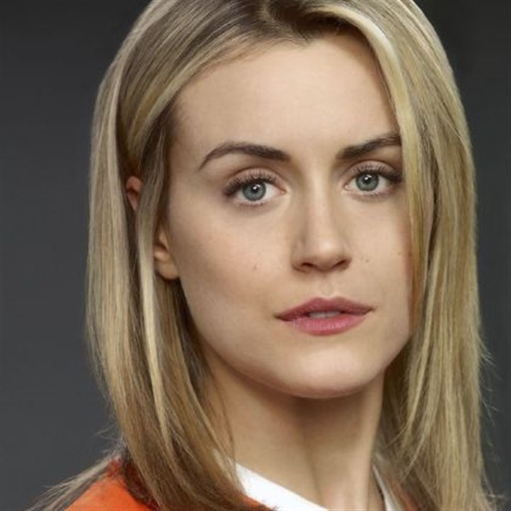 "Taylor Schilling Taylor Schilling in the Netflix series ""Orange Is the New Black."""