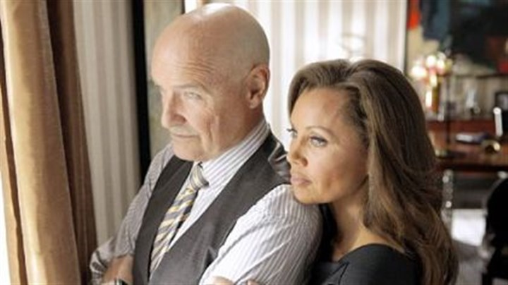 "Terry O'Quinn and Vanessa Williams Terry O'Quinn and Vanessa Williams preside over a mysterious apartment building in ""666 Park Avenue."""