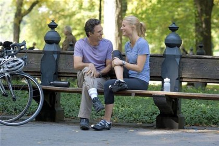 "'Thanks for Sharing' Mark Ruffalo portrays a recovering sex addict trying for a relationship with Gwyneth Paltrow in ""Thanks for Sharing."""