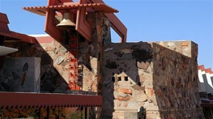 The bell tower at Taliesin West