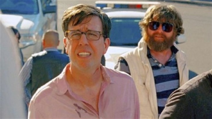 "'The Hangover Part III' In ""The Hangover Part III,"" the escapades of Ed Helms as Stu, left, Zach Galifianakis as Alan and Bradley Cooper as Phil return them to Vegas, where it all began."