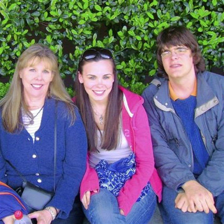 The Hennessy family From left: Kathy, Kate and Andy Hennessy of Mt. Lebanon. Kate and Andy were both diagnosed with childhood apraxia of speech at an early age. There is no cure for the disorder.