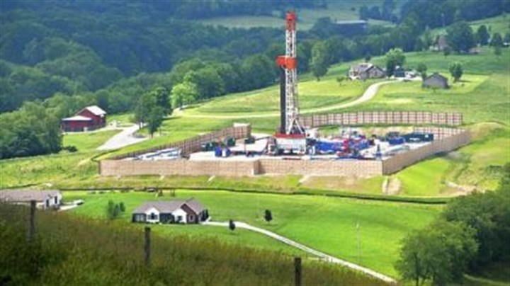 "'The Marcellus Shale Documentary Project' From ""The Marcellus Shale Documentary Project"" at Pittsburgh Filmmakers, a gas-drilling rig in the Hopewell area of Washington County by Scott Goldsmith."