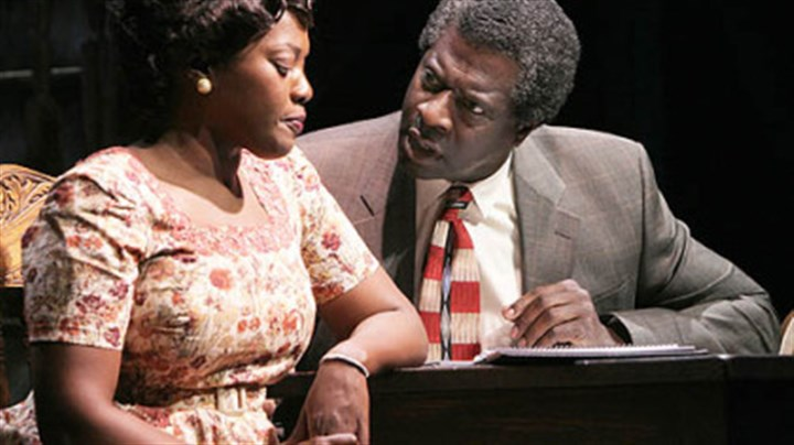 "'The Piano Lesson': Heather Alicia Simms and Afemo Omilami Heather Alicia Simms as Berniece and Afemo Omilami as Avery in ""The Piano Lesson"" at Kennedy Center."