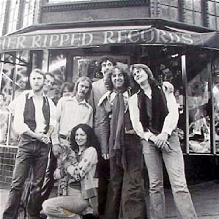 The staff of Rather Ripped Records The staff of Rather Ripped Records in Berkley, Calif., in the '70s. Russ Ketter is second from left.