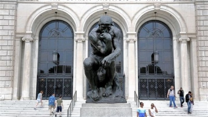 "The Thinker by Auguste Rodin A cast of ""The Thinker"" by Auguste Rodin is part of the Detroit Institute of Arts' extensive collection, largely owned by the city. To deal with the city's $15 billion in debt, Detroit's emergency manager is considering sales of all assets."