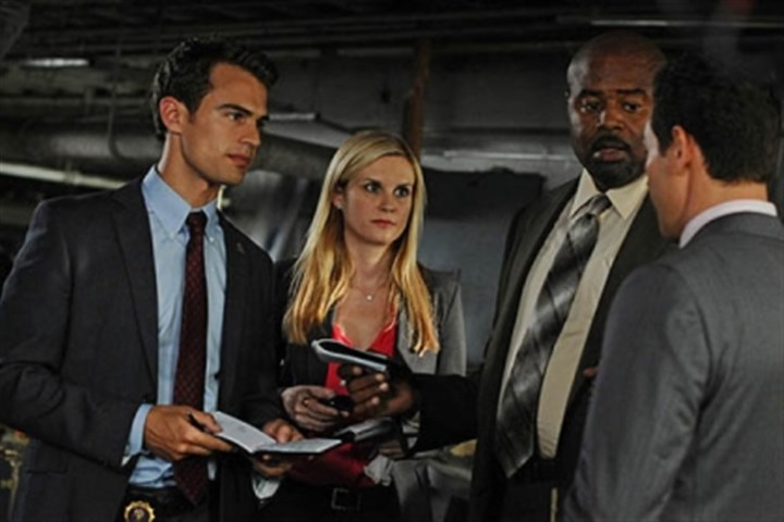 "Theo James, Bonnie Somerville, Chi McBride and Kevin Alejandro Theo James, Bonnie Somerville, Chi McBride and Kevin Alejandro in CBS's ""Golden Boy."""