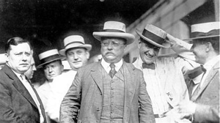 Theodore Roosevelt in 1917 Theodore Roosevelt attended a Loyal Order of Moose convention in Pittsburgh in 1917. Mayor Joseph Armstrong is on the left.