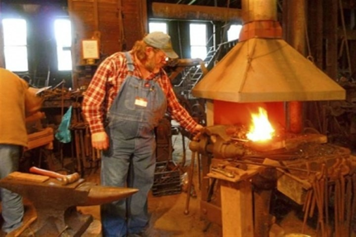 Tim Schiffbauer When the iron gets hot, Tim Schiffbauer, president of the Appalachian Blacksmiths Association, will be among those doing demonstrations today at the 25th annual Hammer-In at W.A. Young & Sons Foundry & Machine Shop in Rices Landing, Greene County.