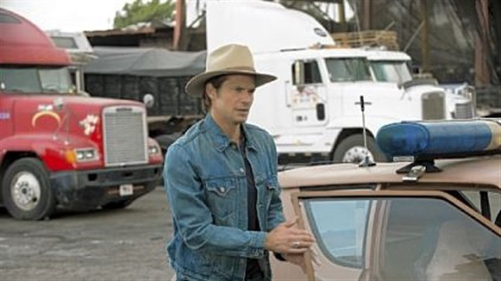 "Timothy Olyphant ""Justified,"" starring Timothy Olyphant as Raylan Givens, returns for a fourth season on Tuesday,"