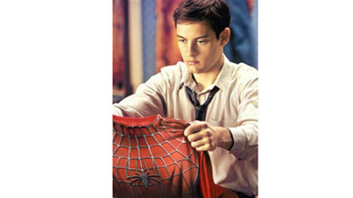 "Tobey Maguire makes his debut as Peter Parker Tobey Maguire makes his debut as Peter Parker in ""Spider-Man"" (2002)."