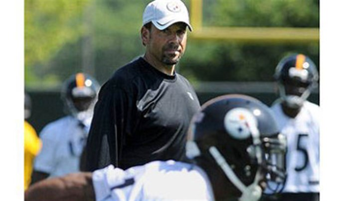 Todd Haley Steelers new offensive coordinator Todd Haley during practice at the Steeler's South Side facility.
