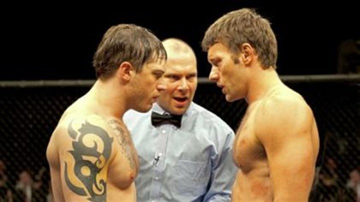"Tom Hardy and Joe Edgerton Tom Hardy, left, and Joel Edgerton star as brothers Tommy and Brendan in ""Warrior."""
