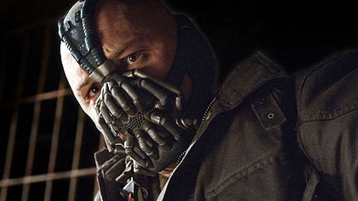 "Tom Hardy as Bane Tom Hardy as Bane in ""The Dark Knight Rises."""
