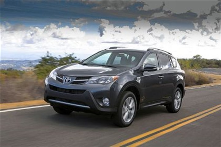 Toyota RAV4 The Toyota RAV4 has grown up for the 2013 model year. It now borrows the look from the angular Venza.