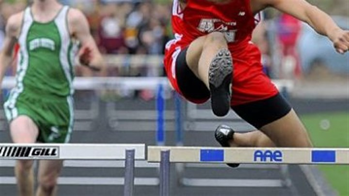 track and field Pat Parra of the Avonworth/Northgate high school track team won the 300-meter intermediate hurdles at the Warrior Classic this past Saturday at Central Valley High School.