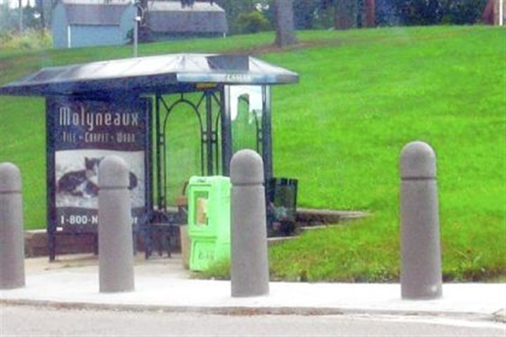 Traffic deflectors Traffic deflectors, called bollards, installed along Carothers Avenue in Scott have sparked complaints among some residents who feel the design is inappropriate.