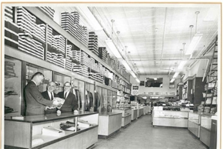 Trau & Loevner From left, J.G. Shilliday, Max Loevner and Bernard Loevner stand inside Trau & Loevner men's clothing store on Fifth Avenue in Uptown in this undated photograph. The store left the Uptown location in 1970 and now sells sportswear in East Liberty.